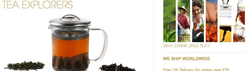 JING Tea eCommerce website