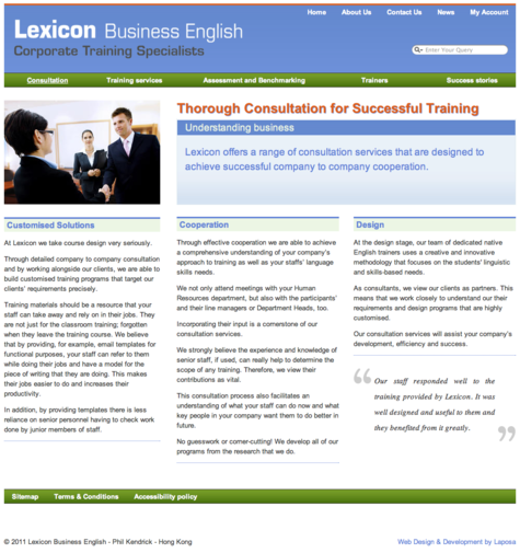 Lexicon Business English - Phil Kendrick - Design by Laposa
